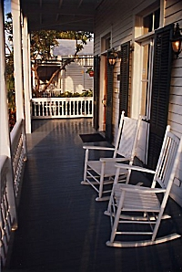 Conch House Porch early morning, Nikon N70, Sigma  28-80 3.5-5.6, Kodak Royal Gold 100, Tiffen Circular Polarizer, Exposure Unrecorded